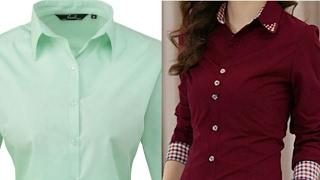 Ladies shirt DIY  ladies shirt cutting and stitching step by step tutorial