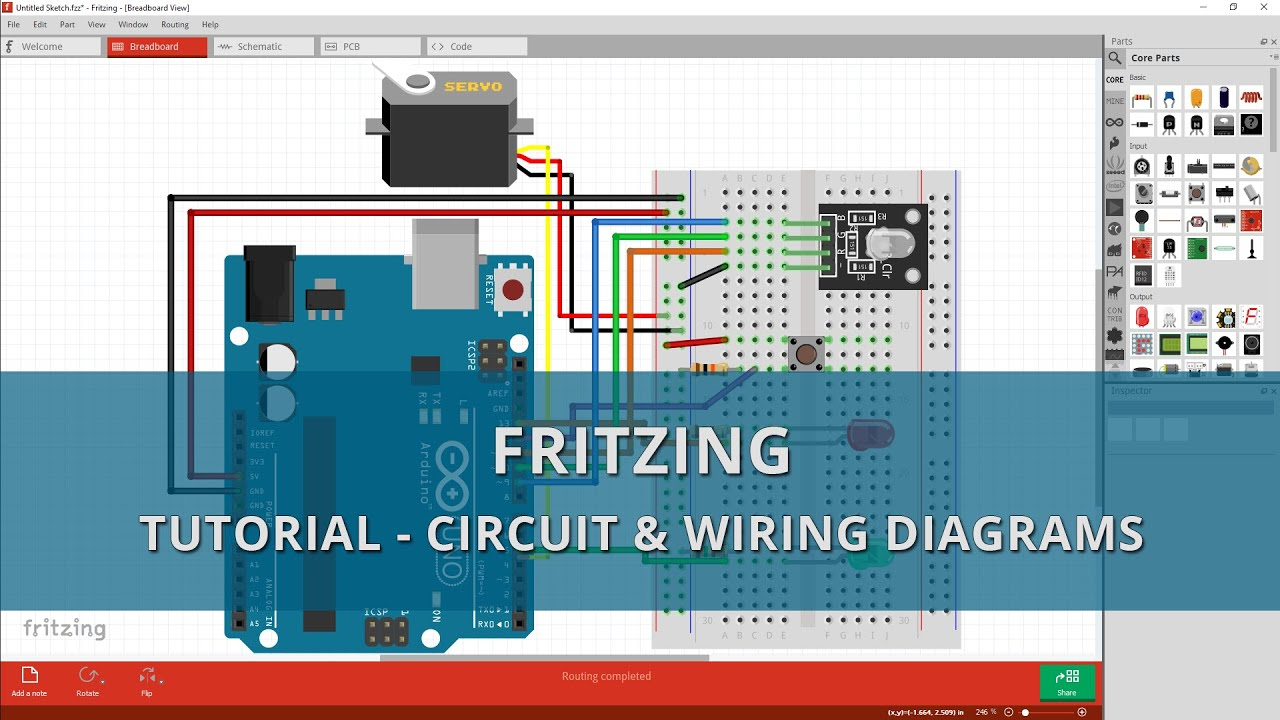fritzing tutorial a beginners guide to making circuit wiring diagrams [ 1280 x 720 Pixel ]
