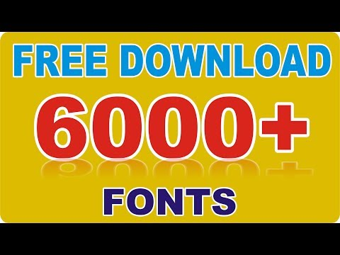 6000+ New Professional Fonts Free Download.