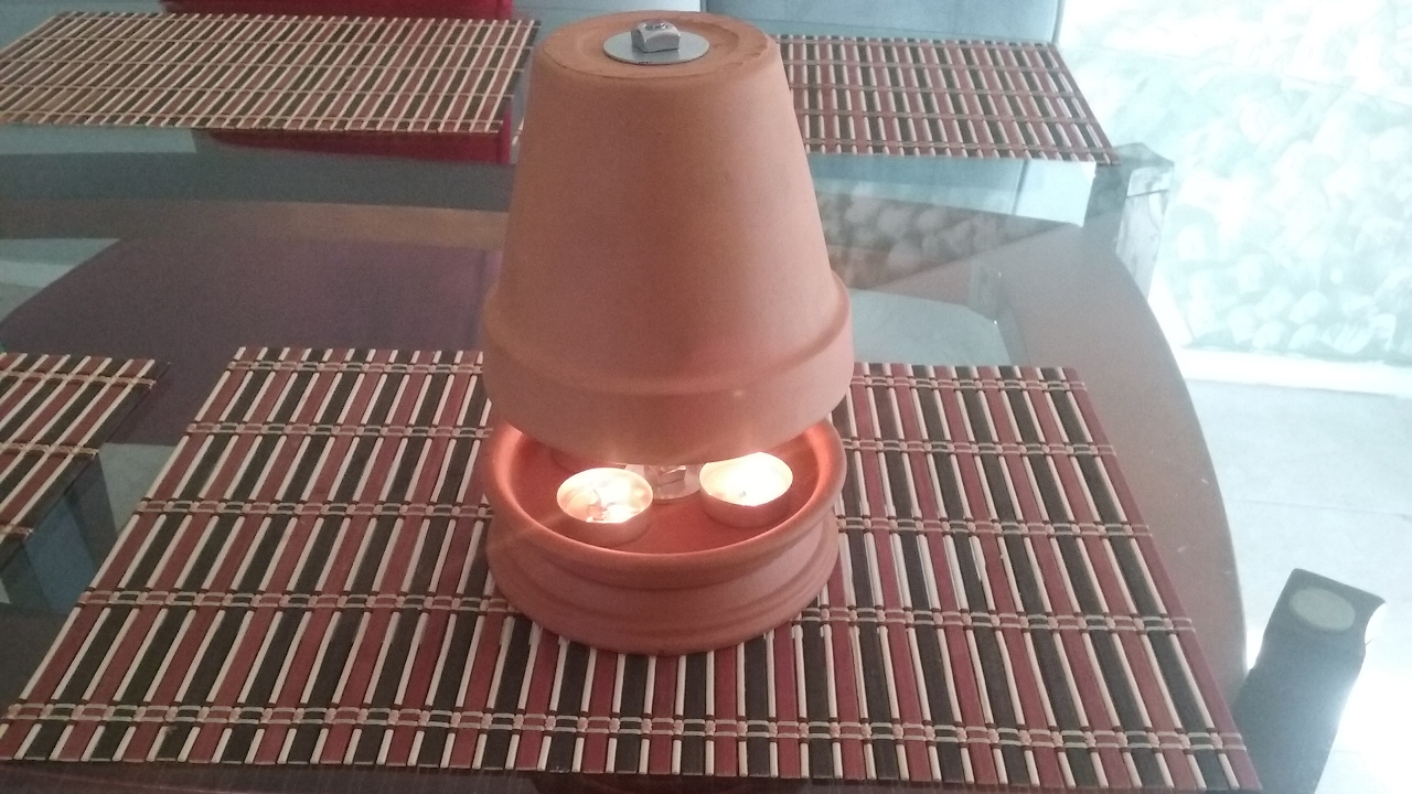 How To Make Flower Pot Heater - How to make a clay or flower pot heater