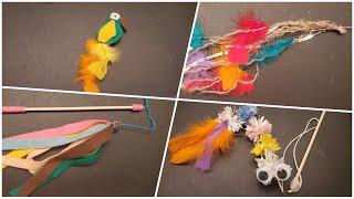 4 DIY Cat Toys. Easy to Make #cattoys #diy #handmade
