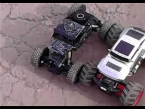 rc crawler vs monster truck test 1 youtube. Black Bedroom Furniture Sets. Home Design Ideas