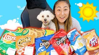 PUPPY REVIEWS POPULAR CHIPS! (SURPRISE ENDING)