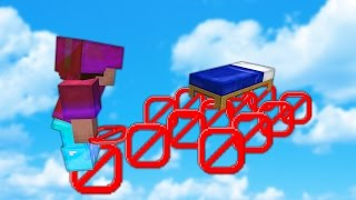 BEATING Minecraft BED WARS With NO BLOCKS...