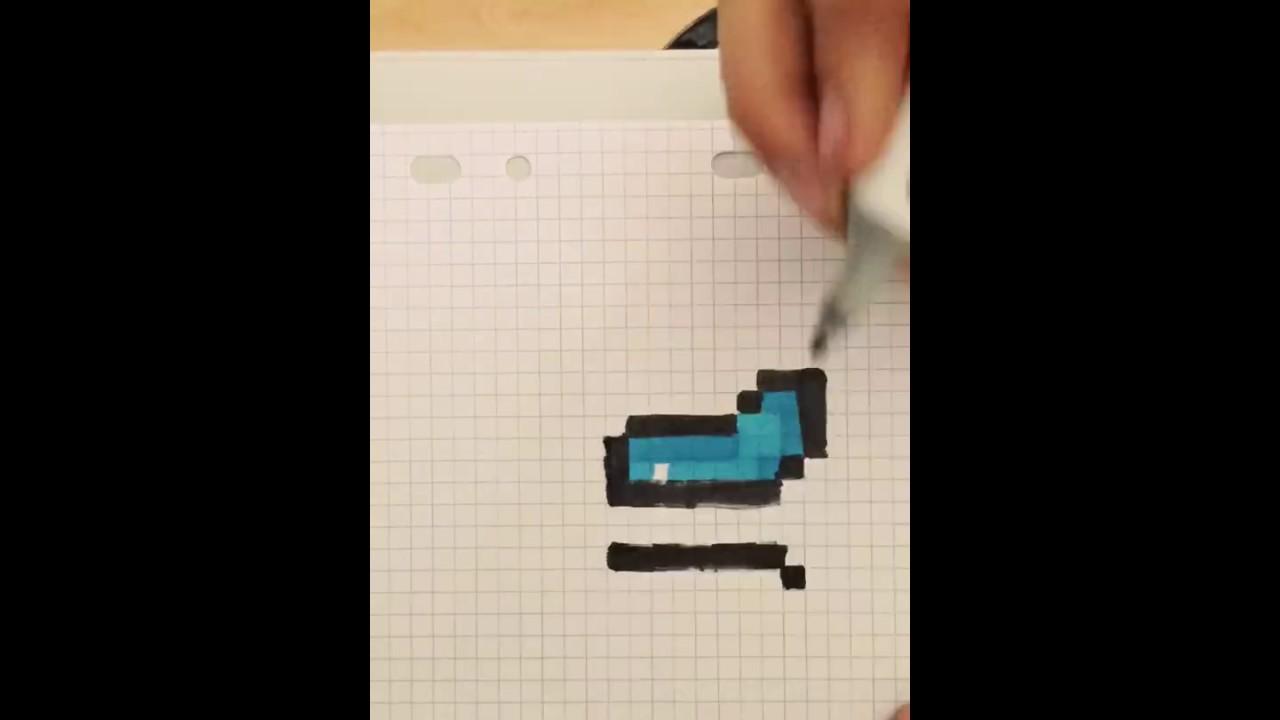 Armure En Diamant Minecraft Pixel Art