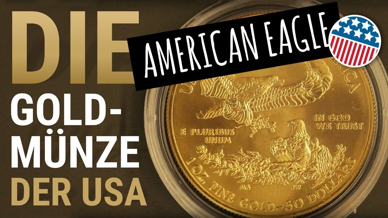 Die Goldmünze Der Usa American Eagle In Gold 1 Unze Als