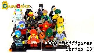 обзор ЛЕГО Минифигурки Серия 16 71013 LEGO Minifigures series 16 музей GameBrick