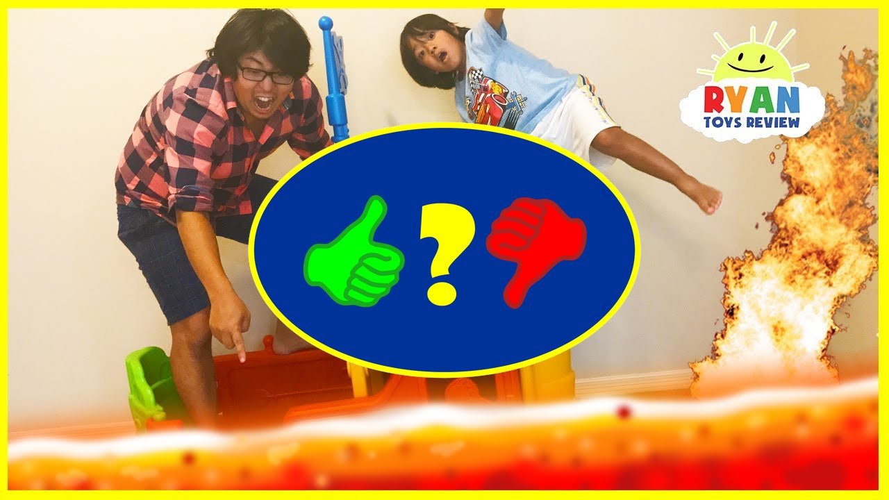 The floor is lava challenge ryan toysreview family fun for Floor kids review
