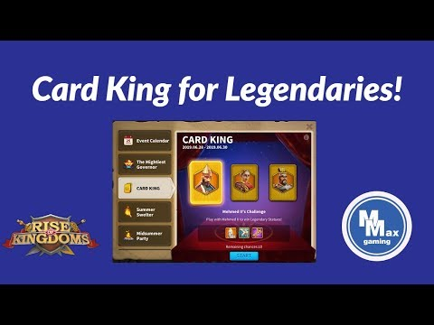 Play Card King for Mehmed, Julius Caesar, and Cao Cao | Rise of Kingdoms