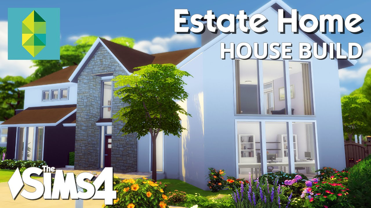 The sims 4 house building estate home youtube for Supplies to build a house
