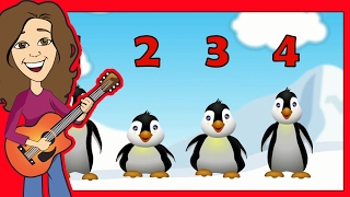 Counting Song 5 Little Penguins for Children, Kids, Babies and Toddlers | Patty Shukla