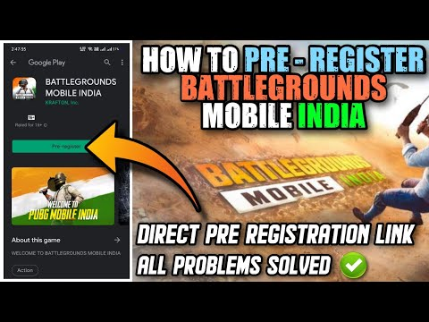 HOW TO PRE - REGISTER BATTLEGROUNDS MOBILE INDIA IN PLAY STORE || PUBG MOBILE INDIA PRE REGISTRATION