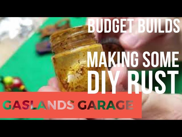 Gaslands Garage: DIY Rust Texture
