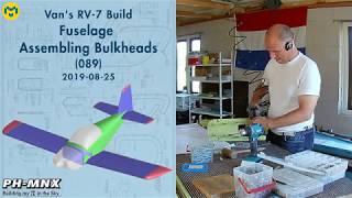 Van's RV-7 Build Fuselage Assembling Bulkheads (089)