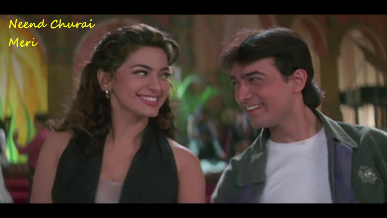 Download Neend Churai Meri Kisne O Sanam Song   Ishq 1997   Aamir Khan   Juhi Chawla   Ajay Devgan   Kajol