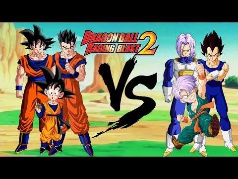 Dragon Ball Raging Blast 2||Familia Goku VS Familia Vegeta