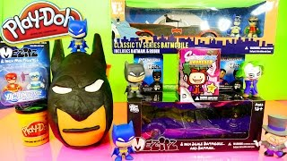 Play Doh Batman Surprise Egg Batmobile Toys x2 Blind Box Unboxing DCTC Playdough Videos