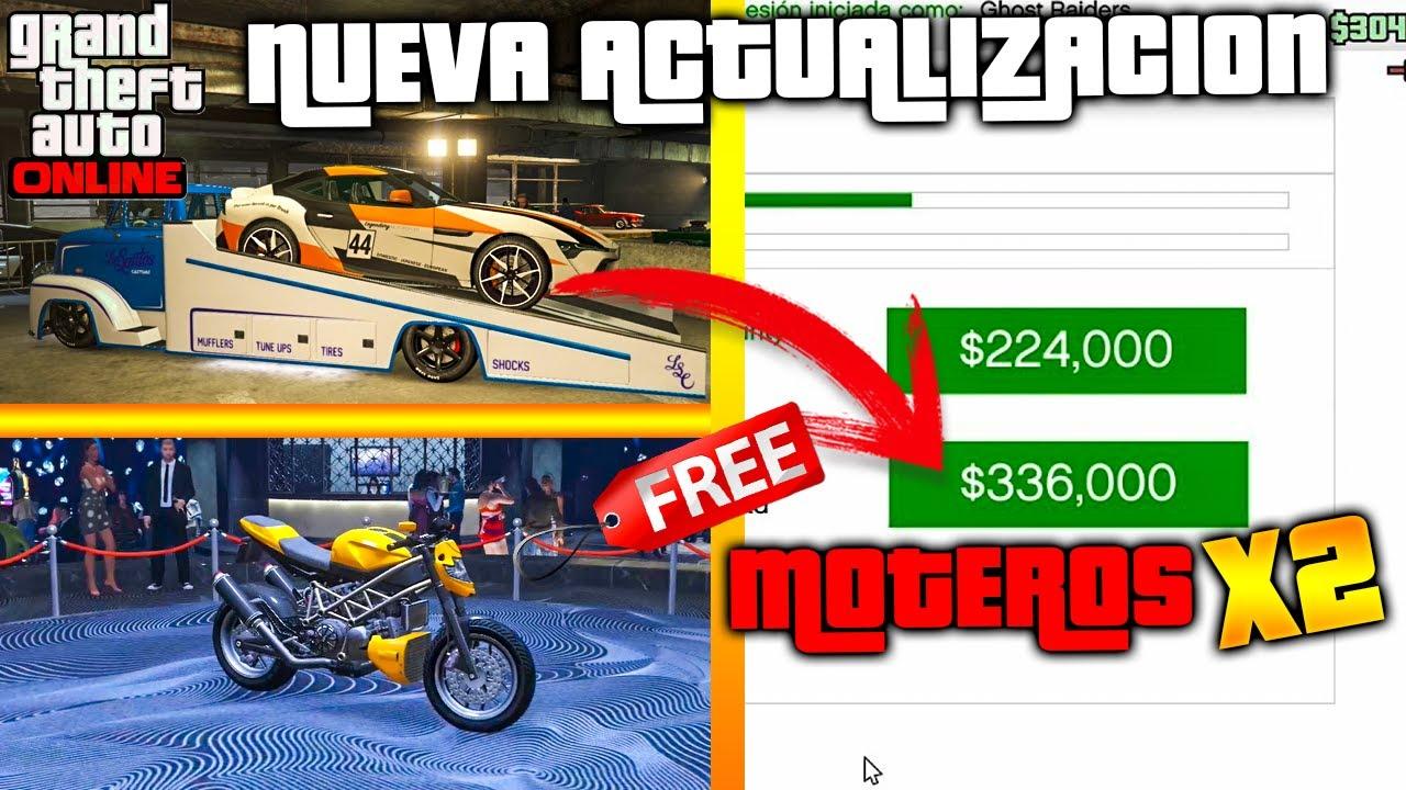 MOTEROS X2! NUEVA ACTUALIZACIÓN SEMANAL GTA 5 VEHICULOS GRATIS, DESCUENTOS Y MÁS!