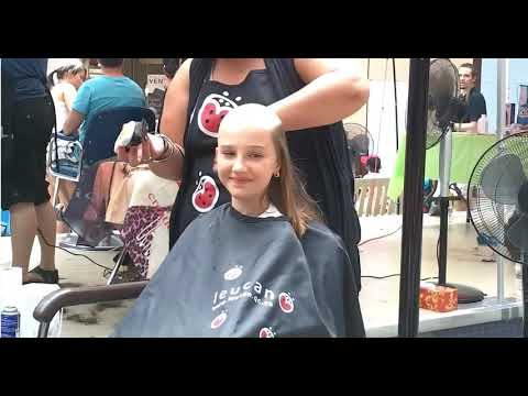 must see 12 year old girl haircut from cute shoulder length to shaved bald head