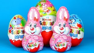 Kinder Chocolate Bunny Surprise Opening Giant Kinder Surprises with Powerpuff Girls Toys