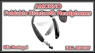 AMORNO Foldable Bluetooth Headphones Wireless Neckband Headset with Retractable Earbuds, FULL REVIEW
