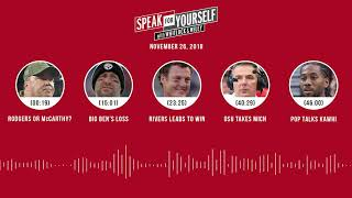 SPEAK FOR YOURSELF Audio Podcast (11.26.18)with Marcellus Wiley, Jason Whitlock   SPEAK FOR YOURSELF