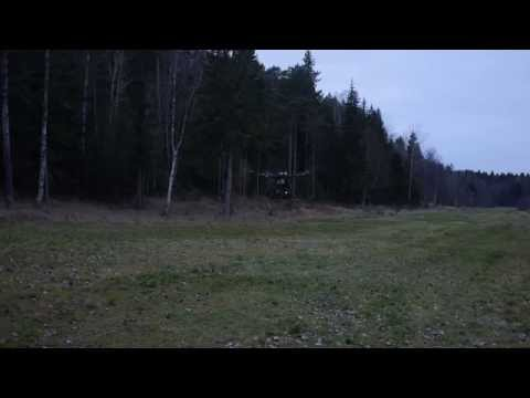 Nostro Mostro first test S1100 Octocopter with Wookong M Gain to low