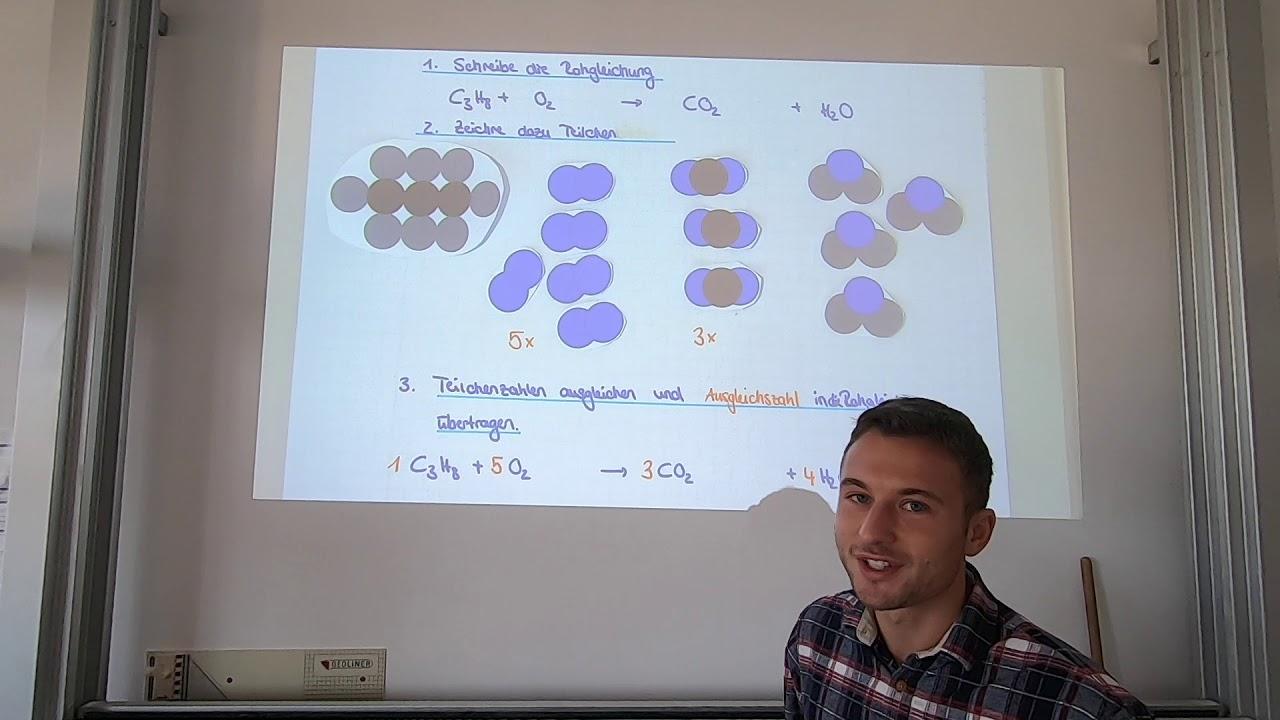 Aufstellen von Reaktionsgleichungen - Verbrennung von ...