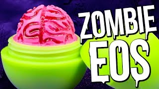 diy zombie brain eos halloween lip balm