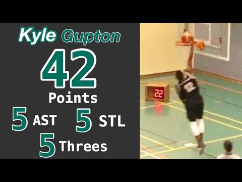 Kyle Gupton Highlights vs. Rastede - 42 points (5 three-pointers), 5 assists, 5 steals