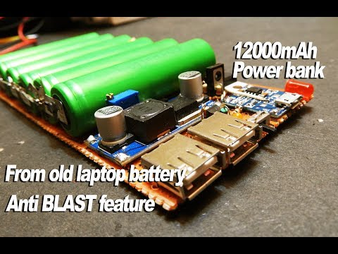 How to Make 12000mAh Power bank_With Anti BLAST feature