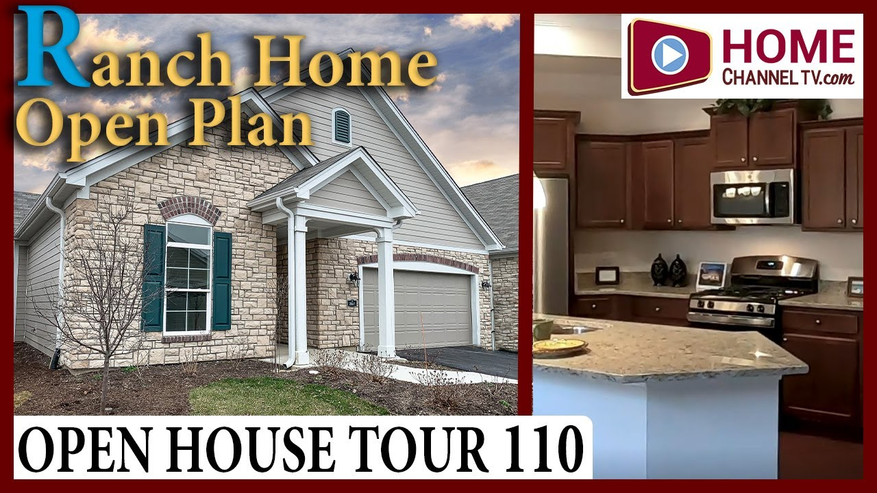Open House Tour (110) - Open Plan Ranch Home - Maintenance-free Living in Woodstock IL