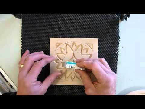 My chip carving finishing inch plate youtube
