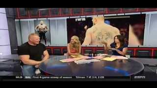 Brock Lesnar talks Summerslam, UFC, and disses Ronda Rousey