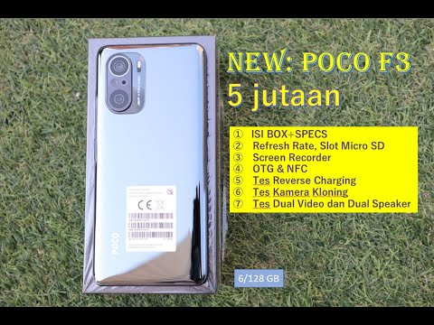 Xiaomi Poco F3 5G 6/128 GB - 8/256 GB-Unboxing-Tes OTG,NFC,SlotMicro SD,Port Headset,Dual Camera#125