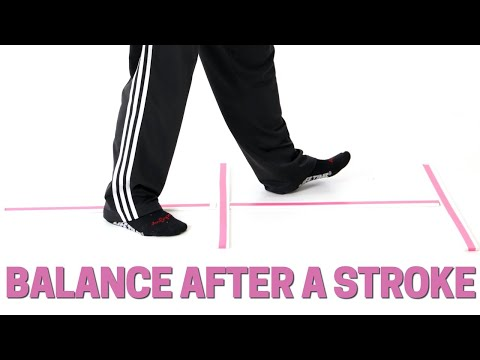Best 5 Minute Walking/Balance Exercise After Stroke or Foot Drop. Prevent Falls!