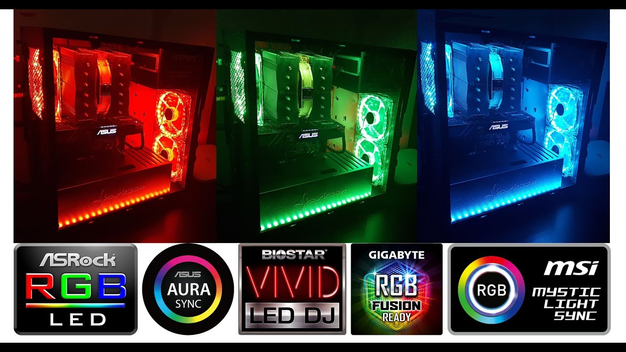 How to make your own LED 12v R G B ASUS aura sync case cables management  ring fans & led rgb strips