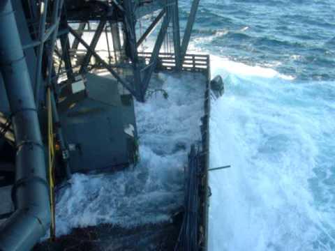 Rig move - Rowan Gorilla 6. Good weather Rolling Seas, Atlantic Ocean