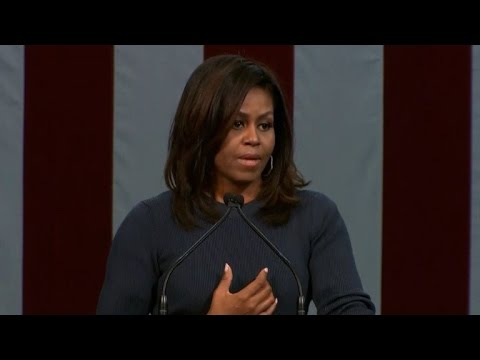 Trump comments on women 'intolerable': Michelle Obama