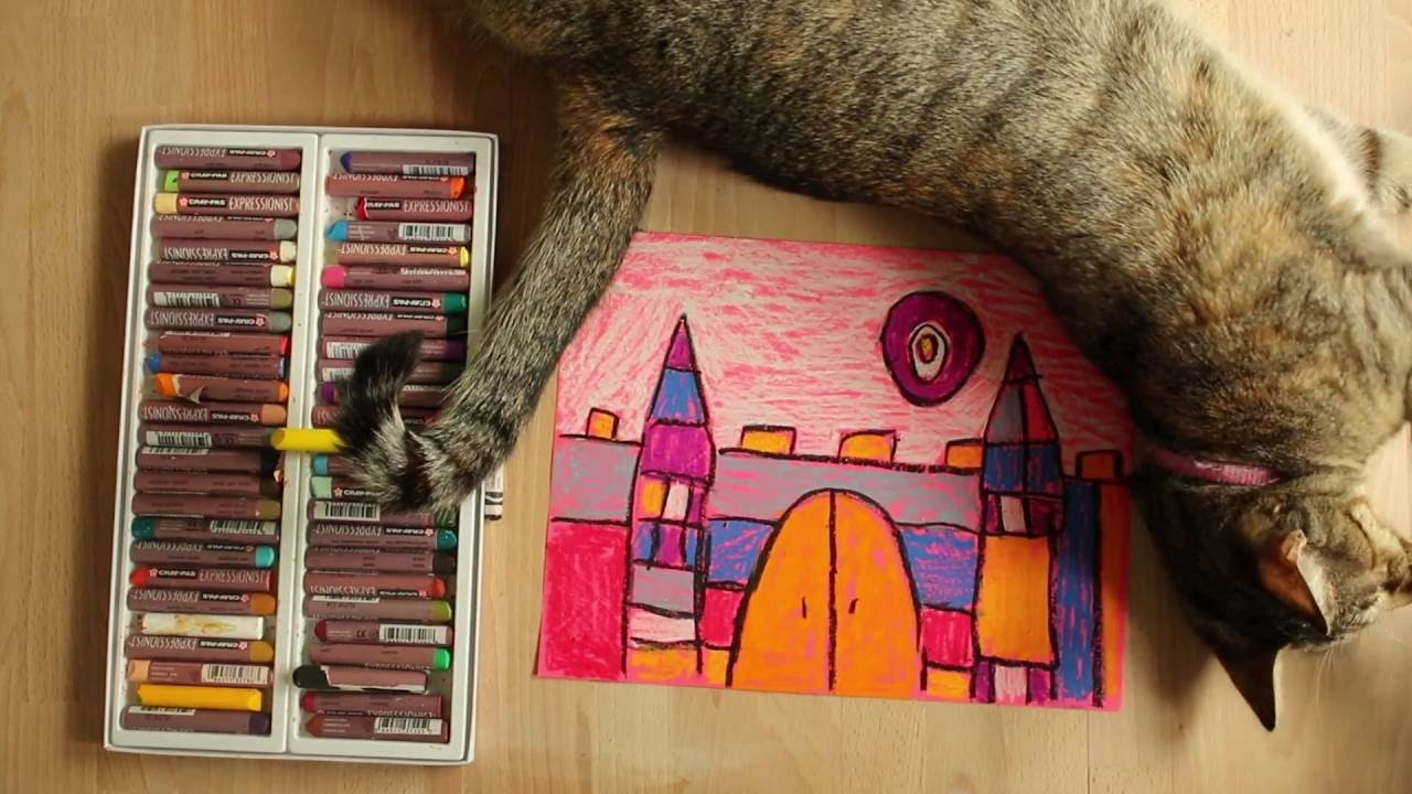 Lucy Loves Art Paul Klee Castles With Oil Pastel Youtube