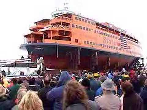 Launching of Staten Island Ferry 12-18-04