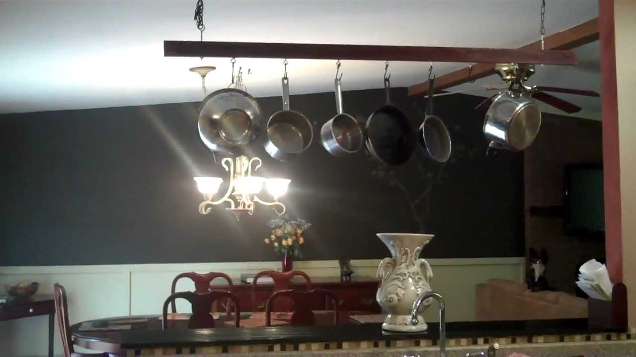 lovely hanging vintage design com rack kitchen pan pot style ceiling industrial of interior