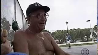 1994 CBS News TV  Old Guys Playing Handball at Flamingo Park, Miami Beach