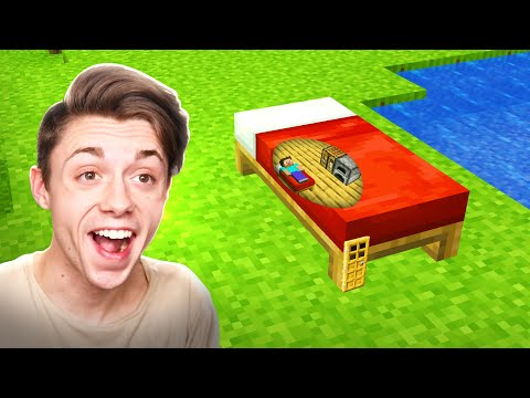 How to BUILD a Minecraft House INSIDE a BED?
