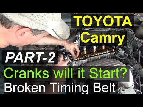 Toyota Camry Crank No Start Part-2 Broken Timing belt