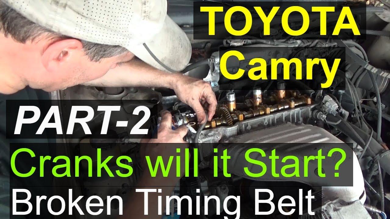 toyota camry crank no start part 2 broken timing belt youtube. Black Bedroom Furniture Sets. Home Design Ideas