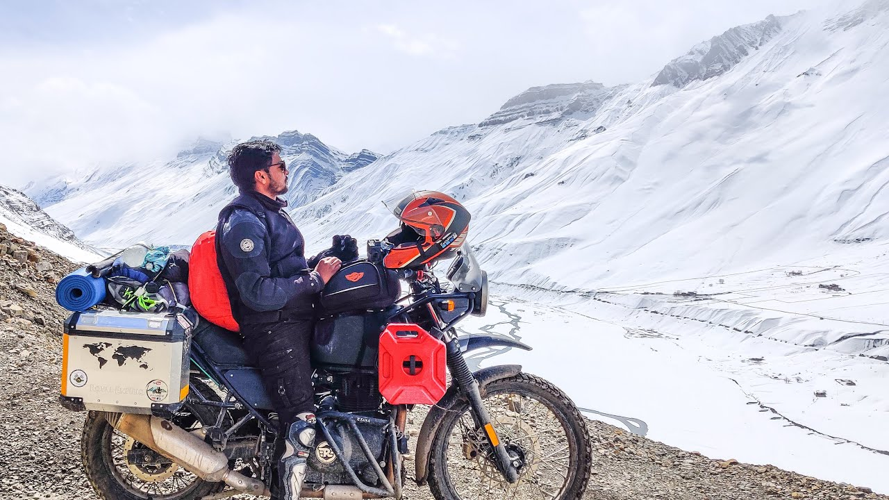 Langza to Kaza | Winter spiti 2020 | Royal Enfield Himalayan | Leh Express