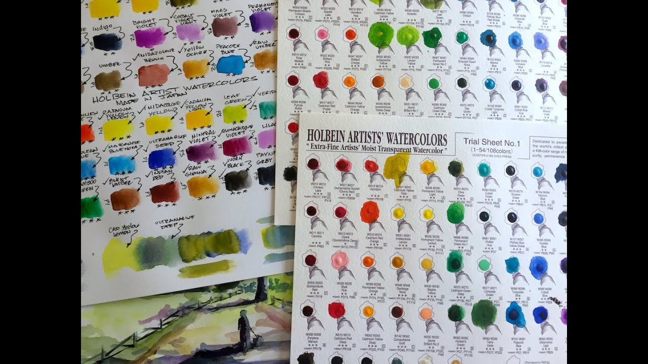 Holbein watercolor sample sheets review youtube holbein watercolor sample sheets review nvjuhfo Choice Image