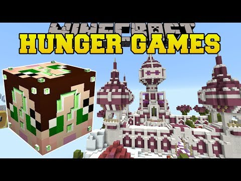Minecraft: PINK CASTLE HUNGER GAMES - Lucky Block Mod - Modd