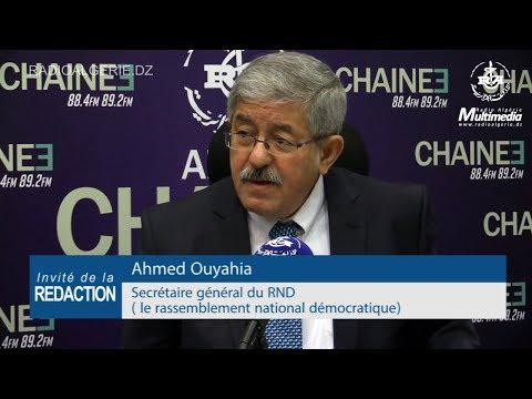 """Ahmed Ouyahia Secrétaire général du RND """"le rassemblement national démocratique"""""""